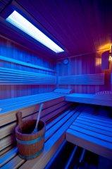Sauna Wechsellicht blau